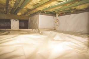 Crawl Space Encapsulation, Vapor Barrier