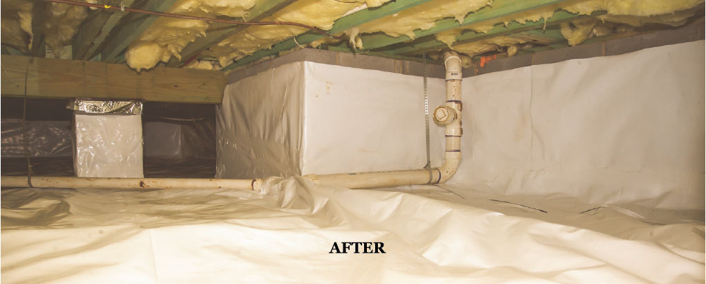 Crawl Space Repair, Encapsulation, Insulation and Vapor Barrier in Charlotte NC