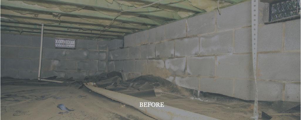 Crawl Space Repair Charlotte NC - Before