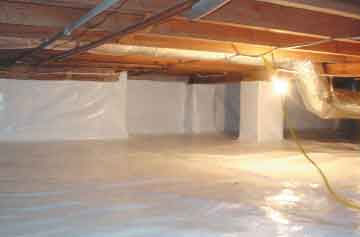 Repairing your crawl space